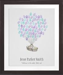 Dot Baby Shower Fingerprint KitFingerprint Baby Shower Tree