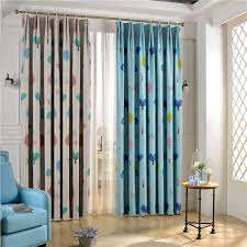astounding cute curtains for bedroom at in white and blue color design children