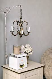 vintage chandelier lamp stand diy 1
