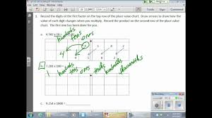 Show A Place Value Chart Relate Place Values In Decimals Examples Solutions Videos