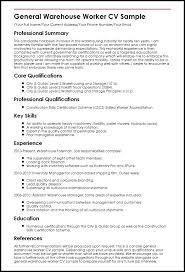 Resume Templates For Warehouse Worker Custom Fresh Design Warehouse Job Description For Resume General Worker