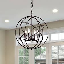 orb light fixture. CLAXY Ecopower Industrial Spherical ORB Color 3 Lights Displays Changeable Metal Cage Chandeliers Orb Light Fixture H