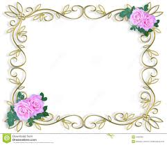 Wedding Invitation Border Pink Roses Stock Illustration Image