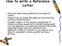 How To Write A Reference Letter Ppt Download