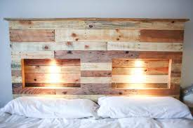 pallet bedroom furniture. 1001pallets-com-pallets-bed-headboard-with-integrated-lightning- Pallet Bedroom Furniture I