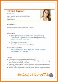 Cv Format Samples Pdf Download Sample Cv For Freshers Resume Doc