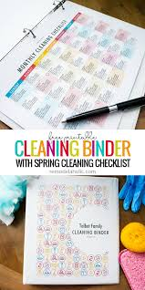 this diy cleaning binder set of printables includes daily weekly and monthly cleaning calendars