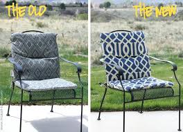 patio chair cushions diy no sew outdoor make your own reversible kitchen chair pads