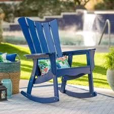 blue rocking chair. Belham Living Ocean Wave Adirondack Rocking Chair - Cobalt Blue