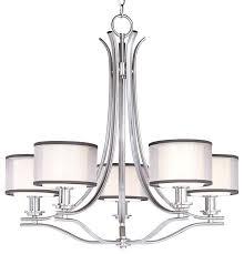 5 light drum shade chandelier