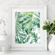 green palm leaf wall art