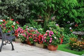 photo summer country patio terrific example of flower planters along the edge of a patio