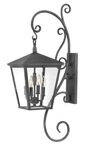 Large Outdoor Wall Lights Trellis 4 Light Large Outdoor Wall Light In Aged Zinc