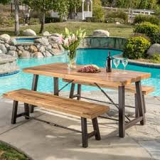 modern outdoor dining furniture. Outdoor Puerto Acacia Wood 3-piece Picnic Dining Set By Christopher Knight  Home Modern Outdoor Dining Furniture T