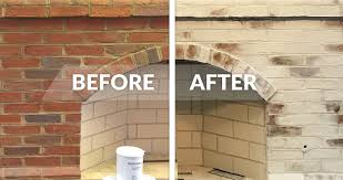 how to whitewash your brick fireplace with limewash paint