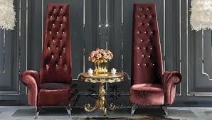 Sedie Pieghevoli Francesi : Sposa e lo sposo francese schienale alto sedie di velluto rosso
