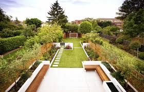 Small Picture Family garden divided into three areas with childrens play area