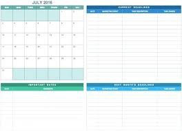 Monthly Task Calendar Template Simple Marketing Fitted Add This