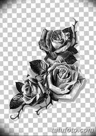 черно белый эскиз тату с черной роedw 11032019 025 Tattoo