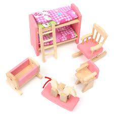 cheap wooden dollhouse furniture. delighful wooden wooden delicate dollhouse furniture toys miniature for kids children  pretend play 6 room set4 to cheap