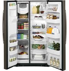 Top Ten Side By Side Refrigerators Gear 253 Cu Ft Side By Side Refrigerator Gss25gmhes Ge