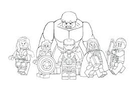 Lego Superhero Coloring Pages Avengers Coloring Pages Avengers