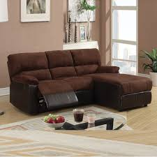 sectional couches with recliners and chaise. Exellent Sectional Mini Sectional W Reversible Chaise  PC Small Chocolate Microfiber Loveseat  Recliner Right  On Couches With Recliners And R