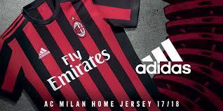 ac milan. new 2017/18 home match jersey ac milan
