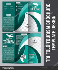 Tri Fold Tourism Brochure Template Design — Stock Vector © Gurukripa ...