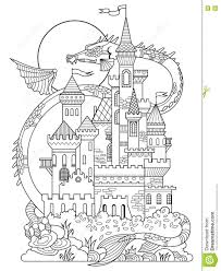 A nice castle by the sea. Coloring Castle Mandala Pages