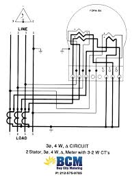 wiring diagrams bay city metering nyc Form 2S Meter 2 stator 4 wire delta btmcnct w 2 2w cts