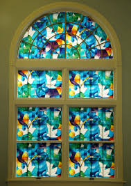 installing the window stained glass