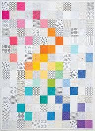 Best 25+ Rainbow quilt ideas on Pinterest | Robert kaufman fabric ... & Modern Rainbow quilt by Rebecca Bryan | Blog Hop at Modern Handcraft Adamdwight.com