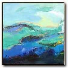 hand painted oversized palette knife painting abstract landscape art on canvas large square canvas art best abstract paintings