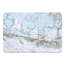 Key Largo Chart Fl Key Largo Fl Nautical Chart Memory Foam Bath Mat