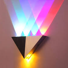 multi color ceiling light aluminum triangle led wall lamp high power modern home lighting indoor lights coloured glass large size of colored gypsy
