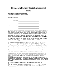 Lease Agreement Format Residental Lease Agreement Residential Form Free Farbar