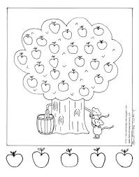 apple tree coloring page. Delighful Coloring Apple Tree Coloring Page Fall Fun Pages To O