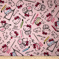 how to design a quilt on graph paper hello kitty math graph paper pink from fabricdotcom licensed from