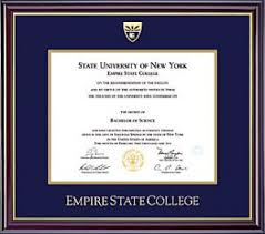 class rings and diploma frames empire state college alumni diploma