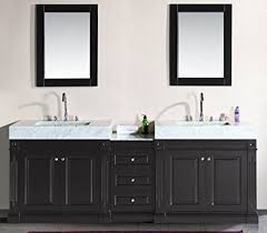 trough style sink. Modren Trough Design Element Odyssey Double Trough Style Sink Vanity Set 90Inch In T