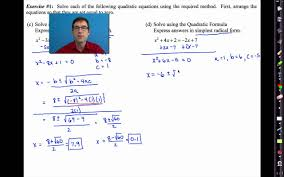 common core algebra i unit 9 lesson 7 final work with quadratic equations