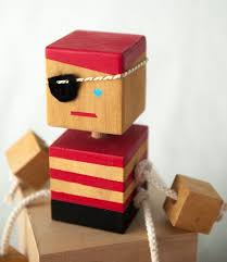 Wooden Pirate <b>Robot Toy</b> for <b>fun</b> & Games in a Pirate theme and ...