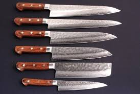 Hand Made Beautiful Ture Damascus Steel Kitchen Chef Knife Set4 Damascus Steel Kitchen Knives