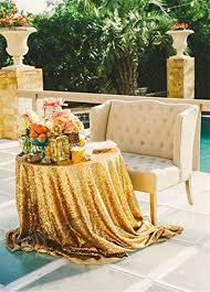 soardream gold sequin tablecloth 50 inch round glitter wedding sequin tablecloth b018qqazou