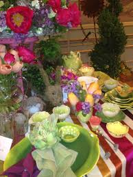 table setting with secret garden theme