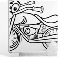 Sticker Fiets Of Chopper Kleurplaat Pixers We Leven Om Te