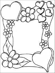 45 Kleurplaat Bloemen Hartjes Amazing Coloriage