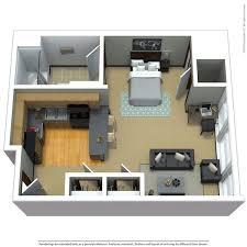 private studio 425 sq ft