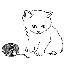 Small Picture Kitten Coloring Pages Cute Kitten Coloring Page 007 nebulosabarcom